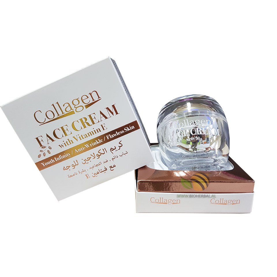 KREM ME KOLAGJEN DHE VITAMINE E - COLLAGEN FACE CREAM WITH VITAMIN E